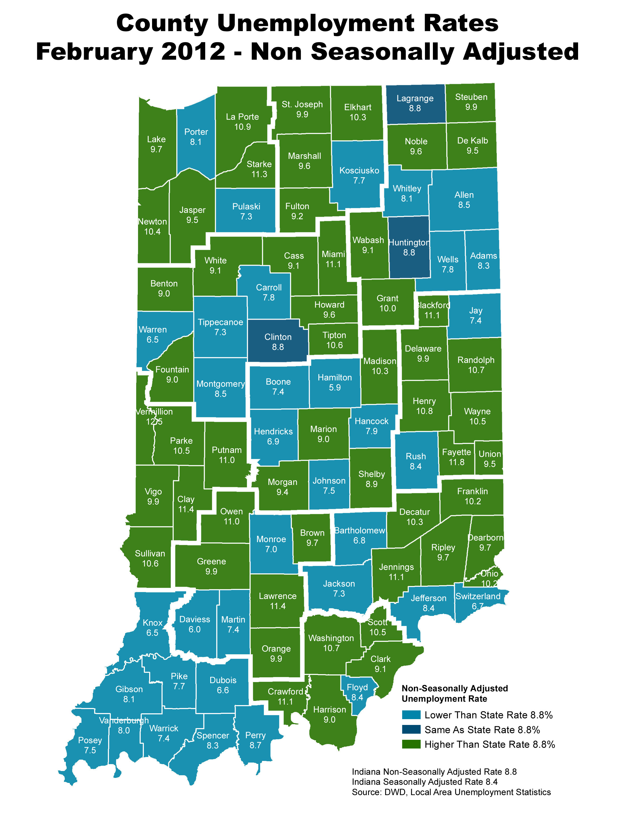 Indiana Unemployment Rate By County | Indiana Unemployment Rate